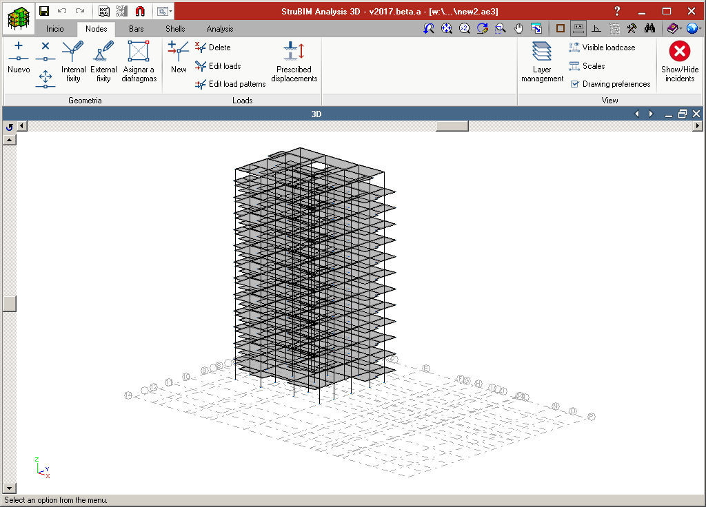 StruBIM Analysis. Structural model